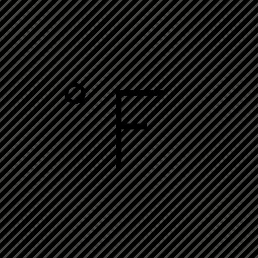 fahrenheit, temperature, weather icon