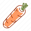 carrot, food, root, vegetable icon
