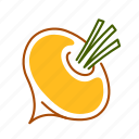batata, food, root, turnip, vegetable, yam icon