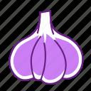 food, garlic, vegetable icon