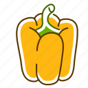 bell pepper, food, pepper, vegetable icon