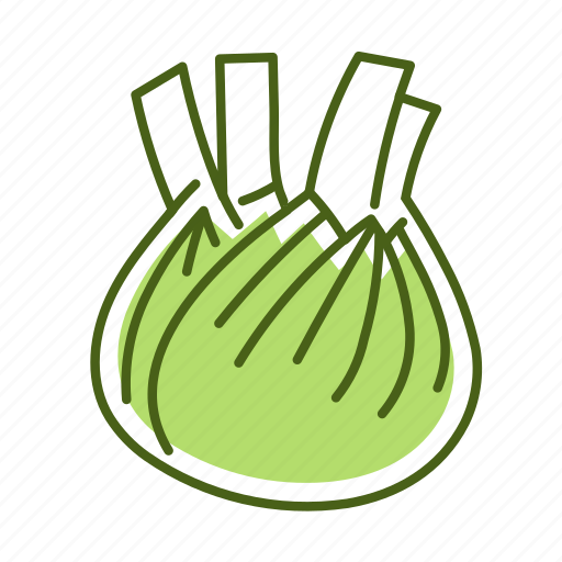 fennel, food, vegetable icon