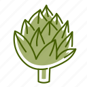 artichoke, food, vegetable icon