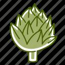 artichoke, food, vegetable icon