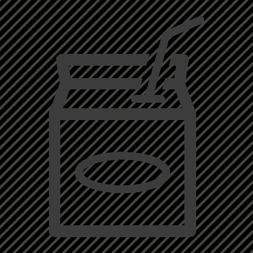 box, carton, juice, milk icon