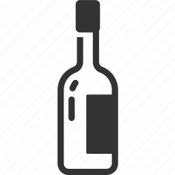 alcohol, bottle, drink, liquor, restaurant, wine icon