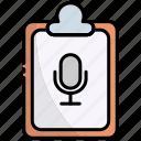 clipboard, document, list, report, checklist, radio