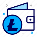 crypto, currency, litecoin, money icon