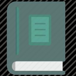 book, literature, report, science icon