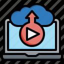 cloud, streaming, signal, video, music, multimedia