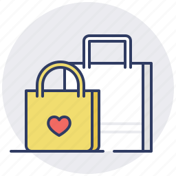 bag, bags, cart, ecommerce, shopping, store, wish list icon