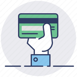 buy, credit card, hand, pay, payment, purchase, shopping icon