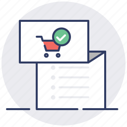 cart, done, invoice, item, list, shopping, tracklist icon