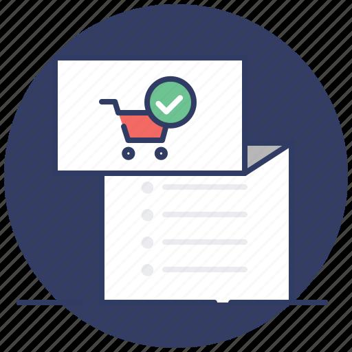 invoice, list, shopping, tracklist icon