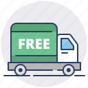 courier, delivery, fast, free, package, shipping, truck icon