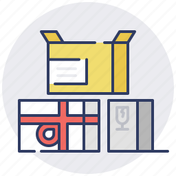 box, boxes, delivery, gift, package, postage, shipping icon