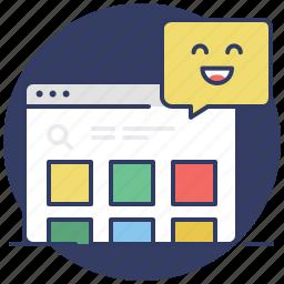 browser, custom, customization, feedback, items, positive, shop icon
