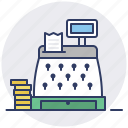 cash, ecommerce, machine, money, register, shop, store icon