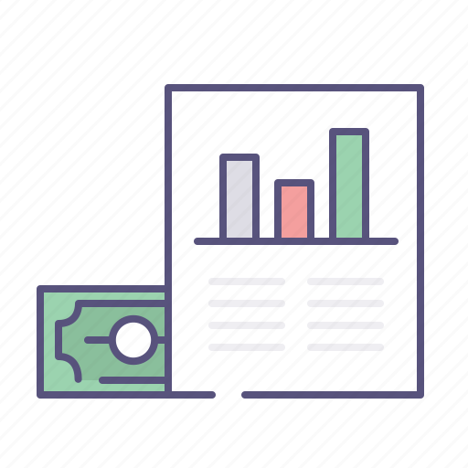 earnings, money, monitoring, sales report icon