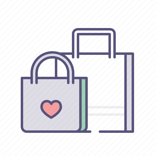 bags, ecommerce, shopping, wish list icon