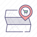 address, location, map, shop icon