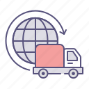 delivery, international, shipping, worldwide icon