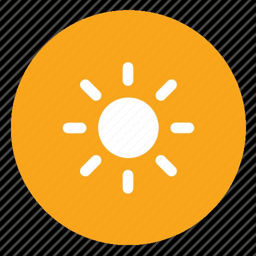 Sun, weather icon - Download on Iconfinder on Iconfinder