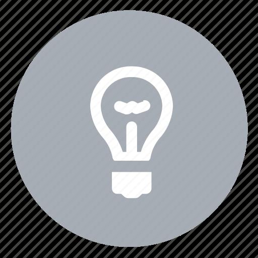 bulb, light icon