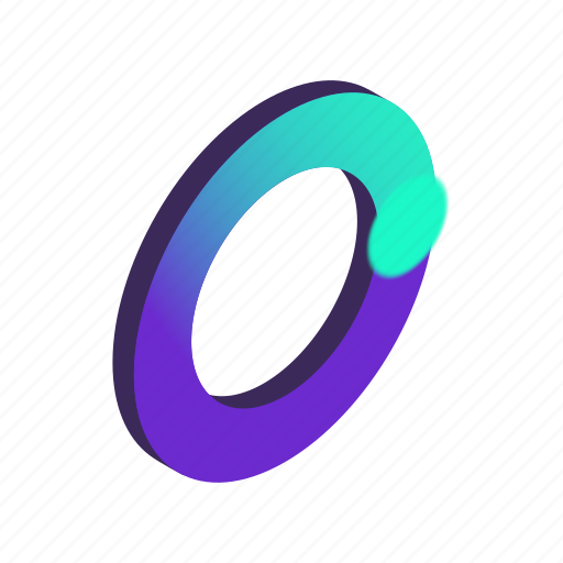 circle, element, graphic, isometric, progress, round, web icon