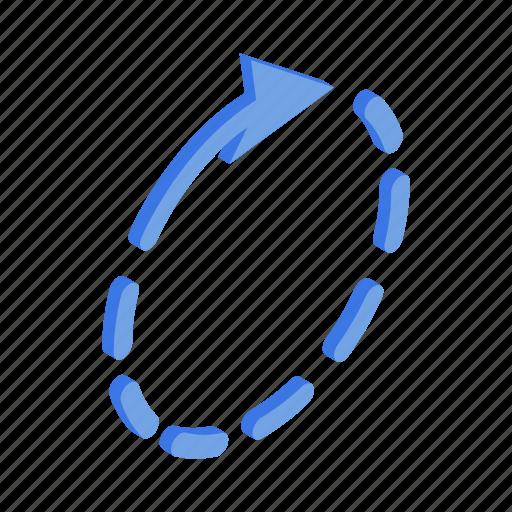blue, circle, element, isometric, progress, round, web icon