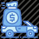automobile, bag, car, money, vehicle
