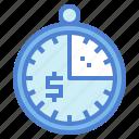 clock, money, time, velocity icon