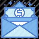 envelope, job, money, salary
