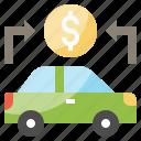 banking, car, coin, dollar, loan, transportation, vehicle