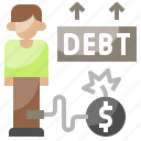 chain, currency, debt, exchange, loan, money icon