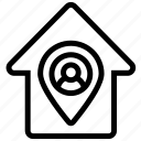 pin, avatar, navigation, direction, address