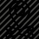 target, mark, pin, location, position