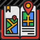 guide, book, map, location, navigation, destination, gps
