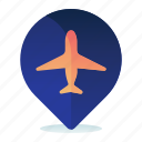 airport, destination, location, map, navigation icon