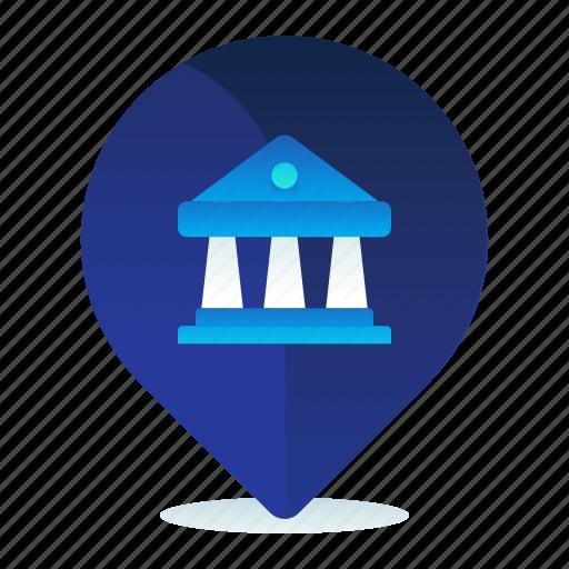 Bank, destination, location, map, navigation icon - Download on Iconfinder