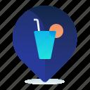 bar, destination, drink, location, map, navigation