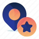 bookmark, bookmarked, favourite, location, star icon