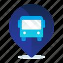 bus, destination, location, map, navigation, terminal