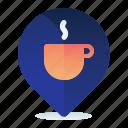 beverage, cafe, destination, location, map, navigation