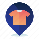 clothing, destination, location, map, navigation, store icon