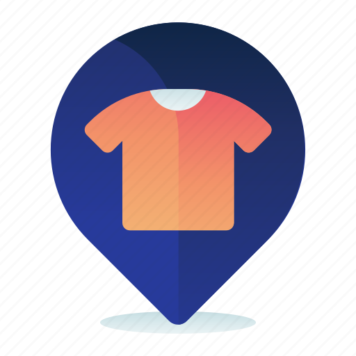 Clothing, destination, location, map, navigation, store icon - Download on Iconfinder