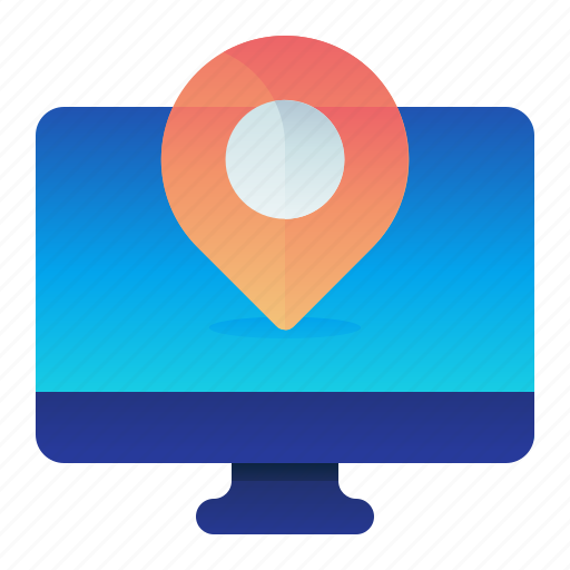 Desktop, destination, location, map, navigation icon - Download on Iconfinder