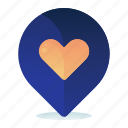 destination, favorite, favourite, heart, location, map icon