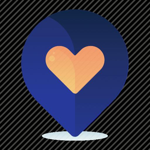 destination, favorite, favourite, heart, location, map icon