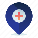 map, hospital, navigation, location, medical